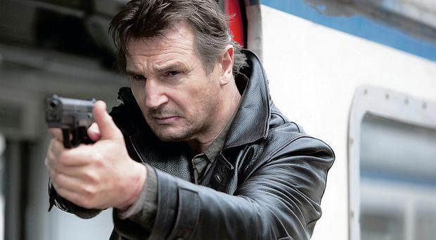 Hollywood action hero Liam Neeson in a scene from Taken