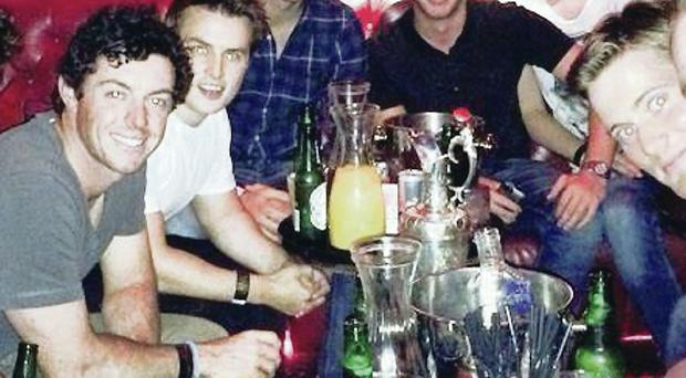 Rory and pals partying in Belfast with the Claret Jug