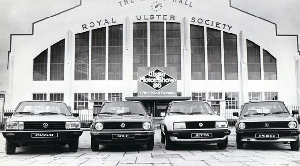 The 1986 Belfast Motor Show at the King's Hall