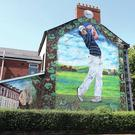 A gable tribute to Rory McIlroy in the Holylands, Belfast