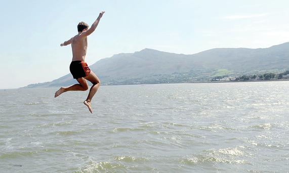 Cooling down at Warrenpoint harbour