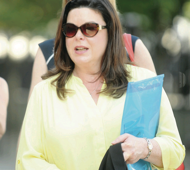 Dawn Purvis of the Marie Stopes Centre leaves court yesterday