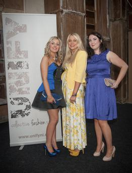 Unify showcase: Amy Phillips, Patricia Melroy, Kirsty Shawe who attended the Unify Showcase event in the Titanic Drawing Rooms in aid of the A21 global campaign
