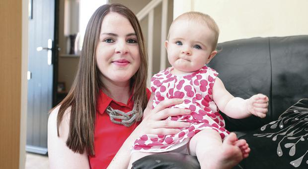 Nicola McNamee and daughter Melissa Rose at home in Lisnaskea, Co Fermanagh