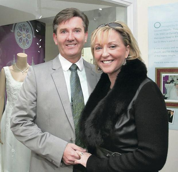 Daniel O'Donnell with his wife Majella last year. The couple wed in 2002