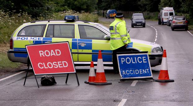 The men died after their car collided with a tractor on the Ballyconnelly Road, Cullbackey, County Antrim
