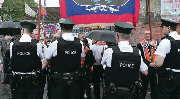 Stand-off: Police block Orangemen at Ardoyne this year