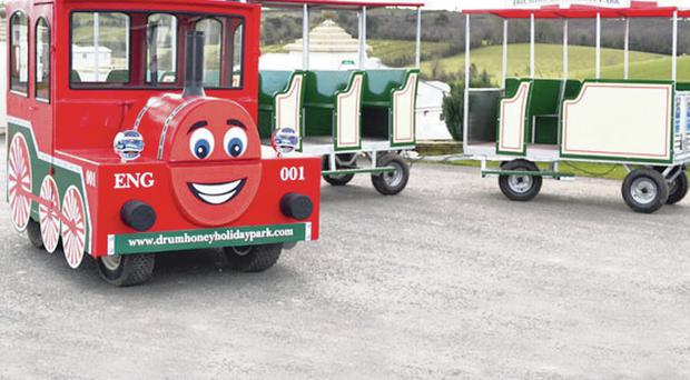 The miniature train at Drumhoney Holiday Park