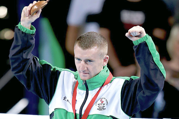 Paddy Barnes with his gold medal