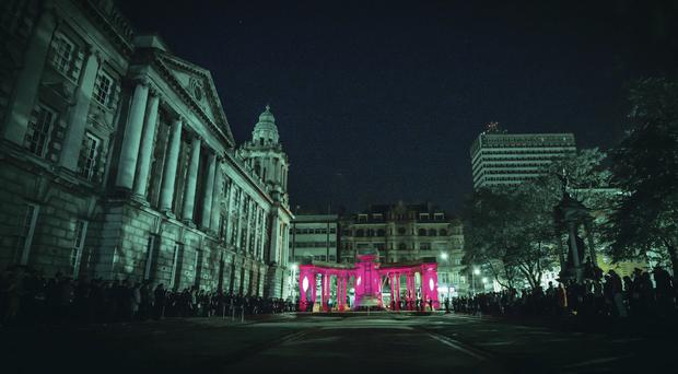 More than one thousand people attended the remembrance ceremony at City Hall last night