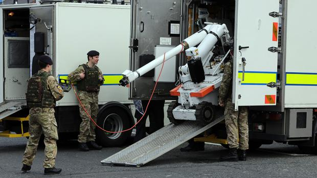 Army bomb disposal experts were called in to the Belfast street