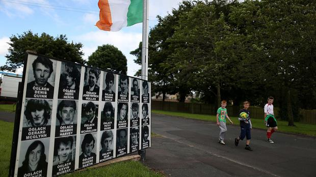 A commemoration of dead IRA members in Castlederg caused controversy