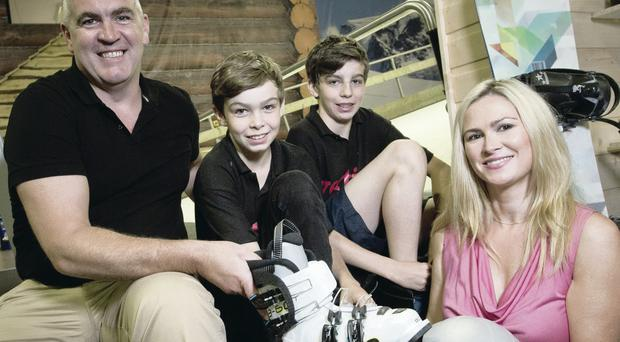 Cruse Bereavement Service helped Gareth (with second wife Lorna) and his sons Nathan and Jordan after his wife Linda died