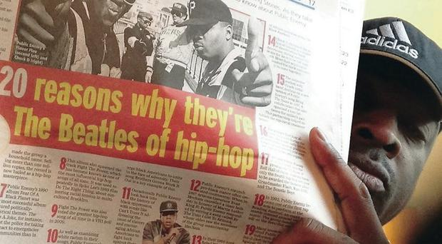 Chuck D with the Telegraph