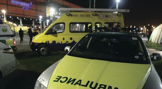 The emergency services at the Odyssey during a concert in February