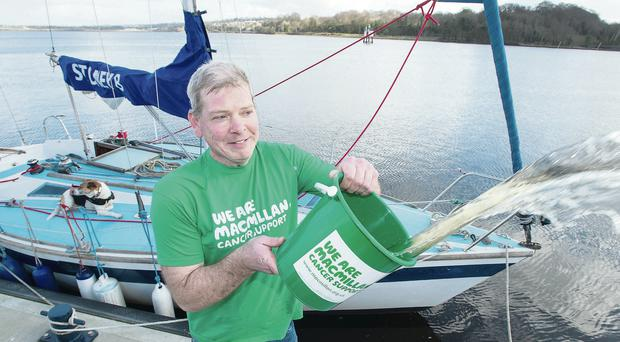 Darren Robb from Londonderry who has completed his voyage around Ireland in aid of Macmillan Cancer Support