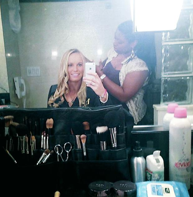 Rory McIlroy's former fiancee Caroline Wozniacki tweeted a photo while having her hair done