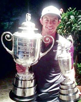 A picture Rory tweeted with both cups