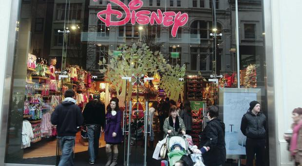 The busy Disney store in Belfast, where the incident took place