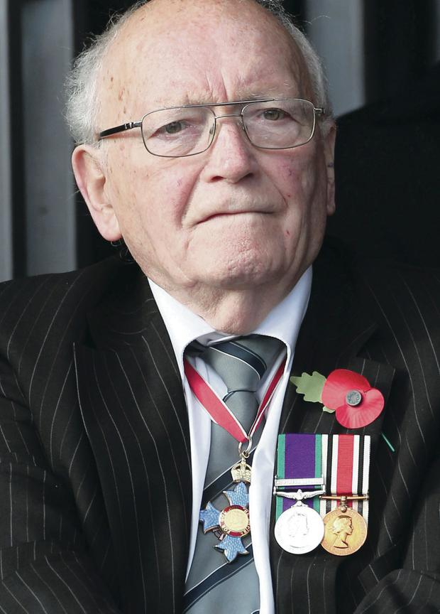 The late Sam Foster at the memorial service marking the 25th anniversary of the Enniskillen bombing in 2012
