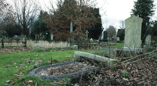 City Cemetery in west Belfast, where the attack took place