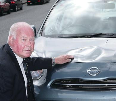 DUP councillor Sammy Brush's car was the target of vandals yet again this week