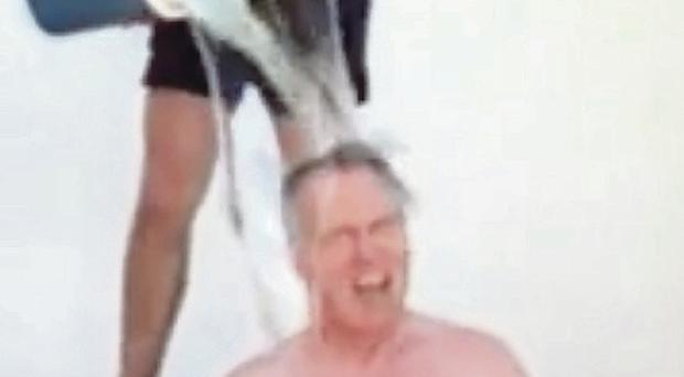 Gerry Kelly takes the ice bucket challenge