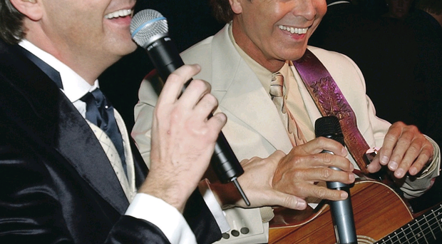 Daniel O'Donnell with Cliff Richard at the Donegal Shore Festival in 2003