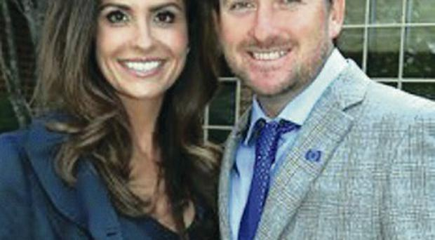 New arrival: Graeme McDowell and wife Kristin Stape