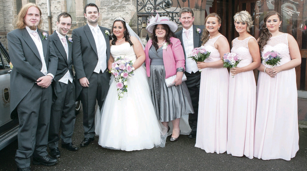 Bride Ashleigh Shivers and groom Stephen Mulholland got married at St Mary's Parish Church, the place where her parents and grandparents also wed. Pictures by Darron Mark Photography