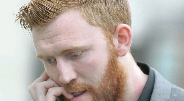Cliftonville goalkeeper Conor Devlin outside Belfast Magistrates Court at a previous appearance