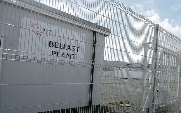 The former Visteon car parts factory in west Belfast, which closed in 2009