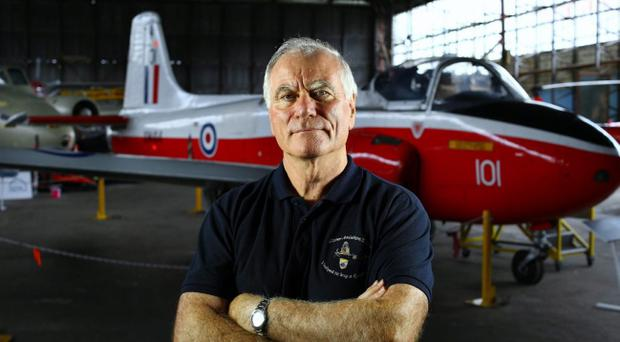 Ulster Aviation Society chairman Ray Burrows in the society museum