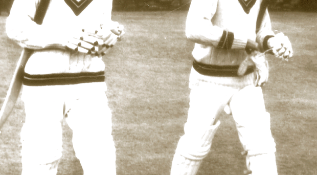 NL Karew and Steve Camacho open the West Indies' innings at Sion Mills in Ireland's famous victory of 1969