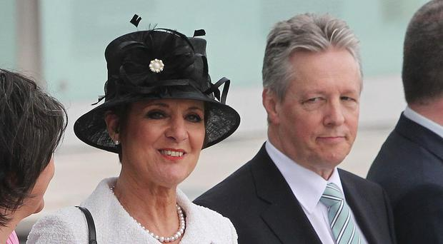 Peter Robinson, pictured with wife Iris, was cleared of breaching the code of conduct
