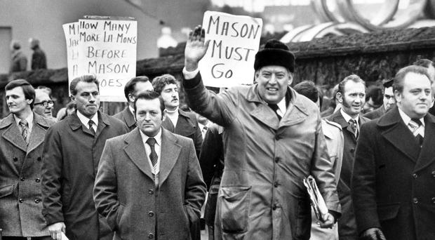 Political odyssey: Ian Paisley on the march with protesters in Ballymena in 1978
