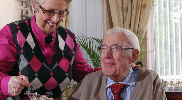 Companions for life: Ian Paisley celebrating his 86th birthday with his wife Eileen