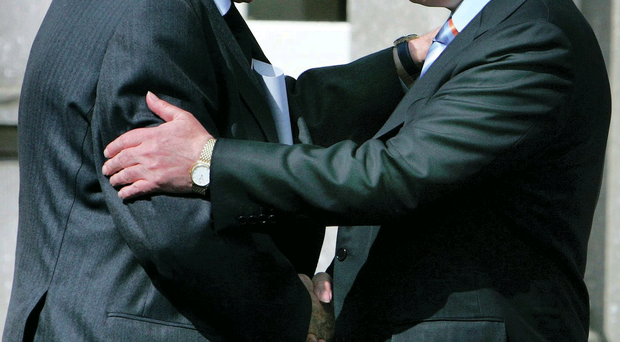 Warm embrace: Ian Paisley with former Taoiseach Bertie Ahern during a visit to the Battle of the Boyne in 2007