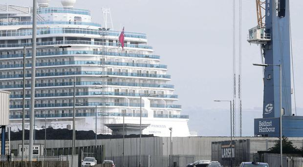Images of the Royal Princess docked in Belfast yesterday