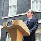 David Cameron speaks to the Press outside Downing Street following the result