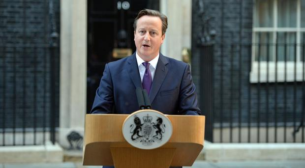 David Cameron made his statement on devolution after the result of Scotland's independence referendum was announced