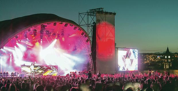 MTV Crashes event held at Ebrington Square in 2014