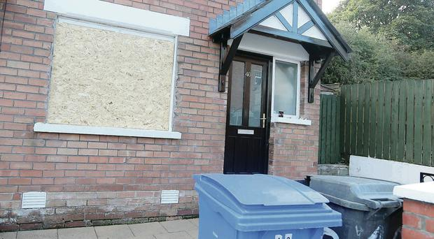 The house at Hesketh Park which had its front window smashed in a racist attack