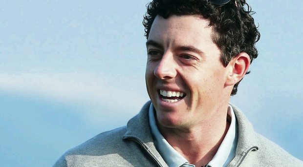 Rory McIlroy after finishing his practice session at Gleneagles in preparation for the Ryder Cup this weekend