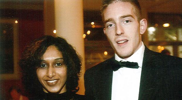 Michael Kivlehan with his late wife Dhara Kivlehan, who died days after giving birth
