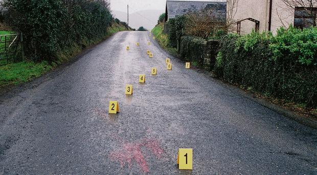 Eamon Collins was killed while walking his dogs at Dorans Hill