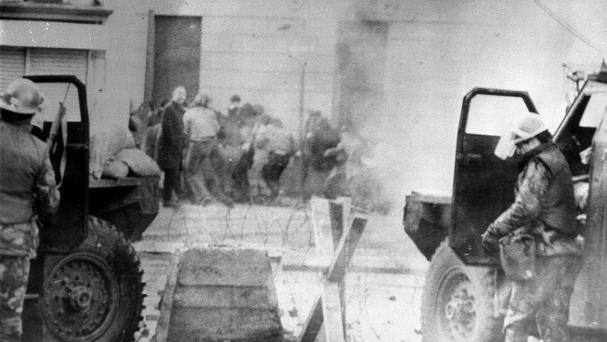 13 civil rights protesters were shot by soldiers on Bloody Sunday in Londonderry in 1972