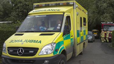 Ambulance crew hurt in lorry crash