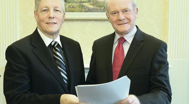 Peter Robinson and Martin McGuinness's office answered 2,300 questions in the last three years, but most answers were late