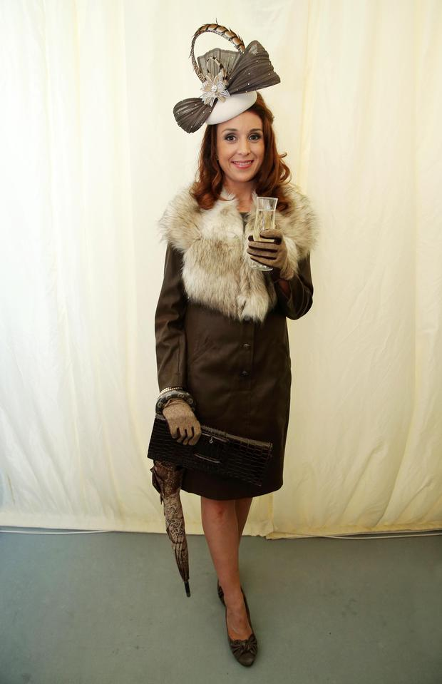 Mairead Traynor from Silverbridge won the Best Dressed award at Down Royal races on Saturday